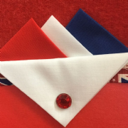 Red White Blue Hankie, White Flap